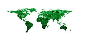 Conceito da biodiversidade na colagem da palavra Imagens de Stock