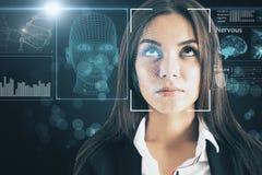 Conceito da biométrica e do acesso foto de stock royalty free