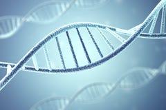 Conceito da bioquímica com molécula do ADN rendição 3d ilustração do vetor