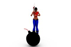 conceito da bomba da mulher 3d Foto de Stock