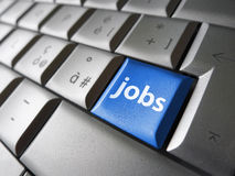 Conceito da busca de emprego on-line imagens de stock royalty free