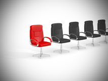 Conceito da cadeira do escritório no fundo branco Foto de Stock Royalty Free
