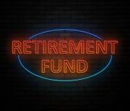 Conceito da caixa de pensões ilustração royalty free