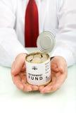 Conceito da caixa de pensões Fotografia de Stock