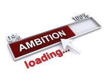 Conceito da carga da ambição ilustração do vetor