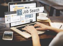 Conceito da carreira de Job Search Human Resources Recruitment foto de stock royalty free