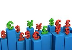 Conceito da carta da taxa de moeda ilustração do vetor