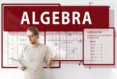 Conceito da carta do cálculo da matemática da álgebra fotografia de stock royalty free