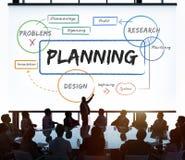 Conceito da carta do diagrama do processo de planeamento empresarial imagem de stock