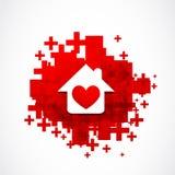 Conceito da casa do coração Fotografia de Stock Royalty Free