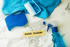 Conceito da casa ou do escritório da limpeza Foto de Stock Royalty Free