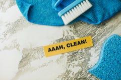 Conceito da casa ou do escritório da limpeza Fotos de Stock Royalty Free