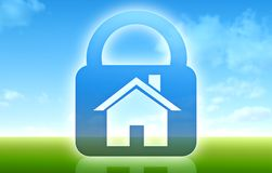 Conceito da casa segura Ilustração Stock