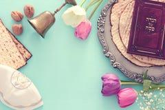 Conceito da celebração de Pesah & x28; holiday& judaico x29 da páscoa judaica; fotos de stock