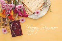 Conceito da celebração de Pesah & x28; holiday& judaico x29 da páscoa judaica; foto de stock