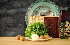 Conceito da celebração de Pesah & x28; holiday& judaico x29 da páscoa judaica; imagens de stock royalty free