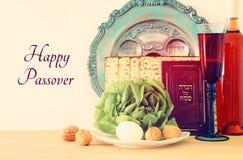 Conceito da celebração de Pesah & x28; holiday& judaico x29 da páscoa judaica; fotos de stock royalty free