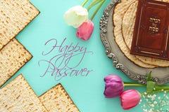 Conceito da celebração de Pesah & x28; holiday& judaico x29 da páscoa judaica; imagem de stock royalty free
