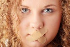 Conceito da censura fotografia de stock