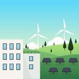 Conceito da cidade da energia renovável Foto de Stock