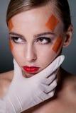 Conceito da cirurgia plástica Imagens de Stock Royalty Free