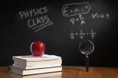 Conceito da classe de física Foto de Stock