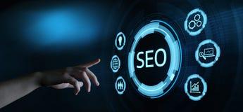 Conceito da classificação de SEO Search Engine Optimization Marketing fotografia de stock royalty free
