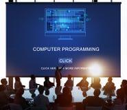 Conceito da codificação de Digitas dos dados da programação informática foto de stock royalty free