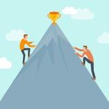 Conceito da competição do negócio do vetor no estilo liso ilustração do vetor