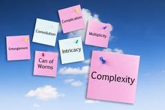 Conceito da complexidade no céu azul fotografia de stock royalty free
