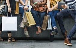 Conceito da compra do grupo de pessoas Fotografia de Stock