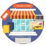 Conceito da compra do Internet ilustração royalty free