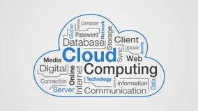 Conceito da computação da nuvem ilustração do vetor