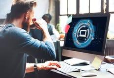 Conceito da conexão da tecnologia da informação do computador imagens de stock royalty free