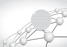 conceito da conexão de rede da esfera da relação de golfe Foto de Stock