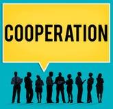 Conceito da conexão dos trabalhos de equipa da parceria da cooperação Imagens de Stock
