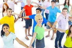 Conceito da conexão da apreciação de uma comunicação da rede da juventude Imagens de Stock