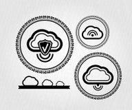 Conceito da conexão da nuvem dos lables do vetor Imagens de Stock Royalty Free