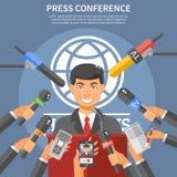 Conceito da conferência de imprensa Imagem de Stock
