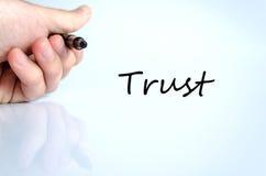 Conceito da confiança Fotografia de Stock Royalty Free