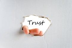 Conceito da confiança Fotos de Stock Royalty Free