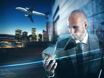 Conceito da confiança e compromisso de uma empresa do transporte rendição 3d Foto de Stock Royalty Free