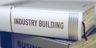 Conceito da construção da indústria no título do livro 3d Fotos de Stock Royalty Free