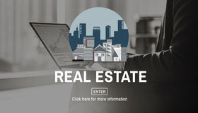Conceito da construção de Real Estate da arquitetura fotos de stock royalty free