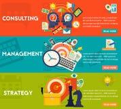 Conceito da consulta, da gestão e da estratégia Imagens de Stock