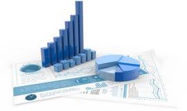 Conceito da contabilidade financeira e da gestão ilustração royalty free