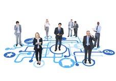 Conceito da cooperação da conexão de negócio da economia Fotografia de Stock