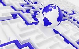 Conceito da cooperação internacional. Imagens de Stock Royalty Free