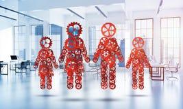 Conceito da cooperação ou parceria talvez família da apresentação Foto de Stock