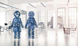 Conceito da cooperação ou talvez família com as duas figuras presenti Imagem de Stock